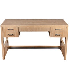Cerused Oak Desk by Jay Spectre, 1970s