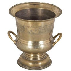 Large Brass Urn Type Champagne or Ice Bucket