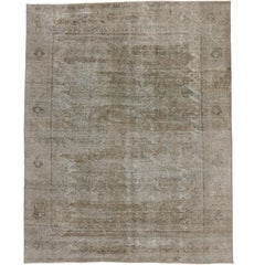 Distressed Vintage Turkish Rug with Modern Industrial Style