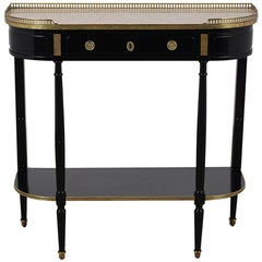 Elegant 20th Century French Ebonized Console Table