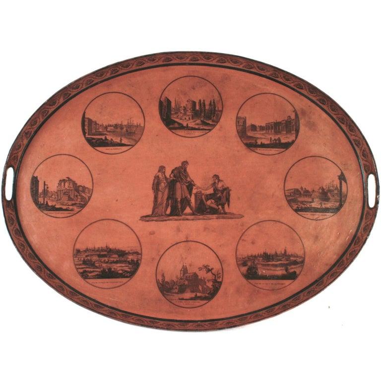 Empire Tôle Peinte Tray Table, circa 1810