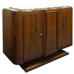 Small Original Palisander Art Deco Sideboard Art Deco French Cabinet, circa 1925