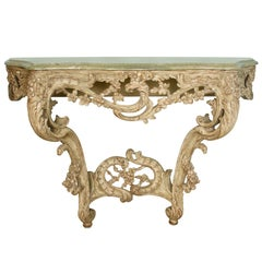 Louis XV Style Carved Console with Marble Top