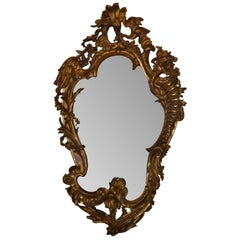 19th Century Italian Carved Giltwood Mirror