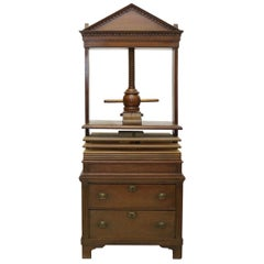 Original Laundry Press or Book Press Antique, circa 1900