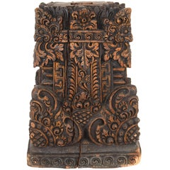 Base from Bali in Carved Wood