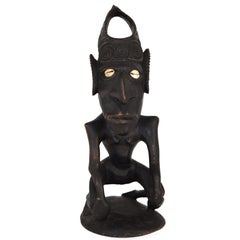 Wooden Sculpture of Male Figure from Papua, New Guinea