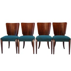 Art Deco Dining Chairs H-214 by Jindrich Halabala, 1930