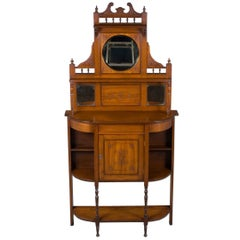 Edwardian Period Walnut Narrow Chiffonier