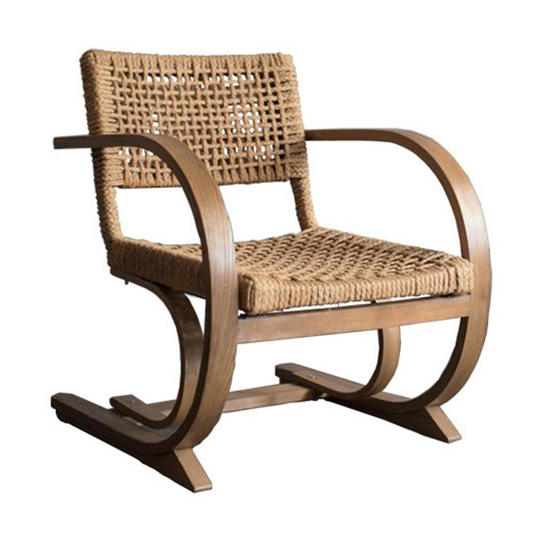 Audoux-Minet Rope Armchair for Vibo, 1950s For Sale