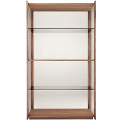 Pacini & Cappellini Bay Bookcase in Walnut by Ervas Basilico Giraldi