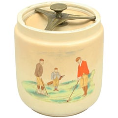 Carlton Ware Golf Tobacco Jar