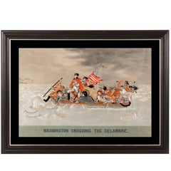 """Washington Crossing the Delaware"" Embroidery with a Trapunto Needlework"
