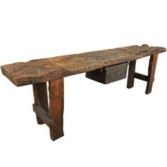 Mid-19th Century Primitive Catalan Console Table