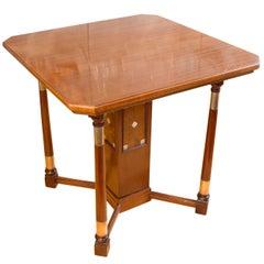 Art Nouveau Mahogany Salon Table
