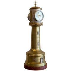 French Animated Industrial Lighthouse Clock by Guilmet, circa 1880