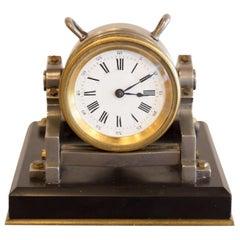 Industrial Series Mortar Mantel Clock by Guilmet, Late 19th Century