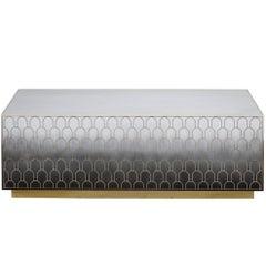 Bethan Gray Nizwa Block Table Monochrome or Brass