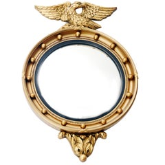 English Eagle Convex Mirror, Bullseye Mirror by Atsonea Regency Style, 1960s