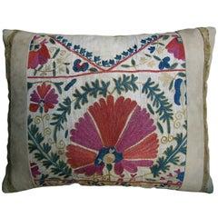 Suzani Embroidered Pillow, circa 1850 1696p