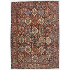 Antique Persian Bakhtiari Rug with Four Seasons Design and Traditional Style