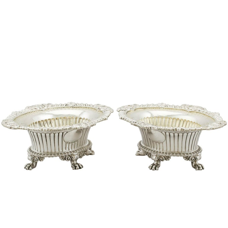 1830 Antique Sterling Silver Salts by Paul Storr