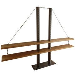 Golden Gate Bridge Alder Wood Shelf, Unique Single Piece