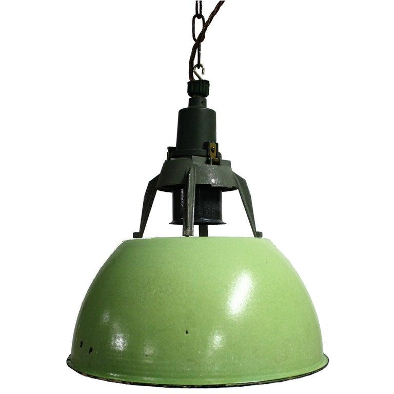 Vintage Industrial Pendant Lights, 1960s Russia