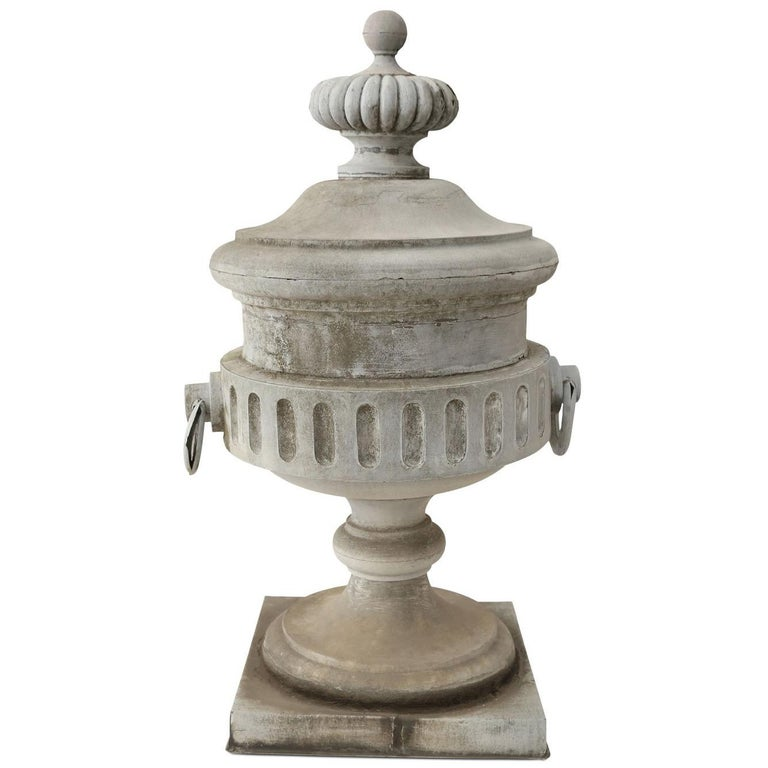 Monumental Urn-Shape Zinc Finial