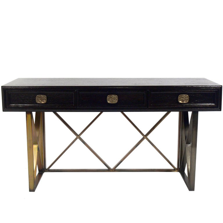 Elegant X Base Desk or Console Table
