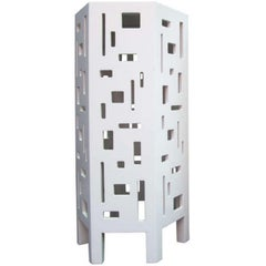 Lacquered Geometric Side Table