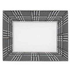 Gianfranco Ferré Galles Large Picture Frame in Black and Platinum Porcelain