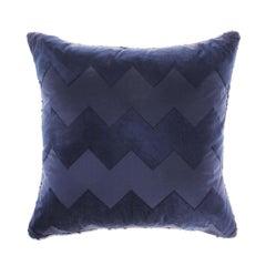 Gianfranco Ferré Alameda Pillow in Blue Velvet