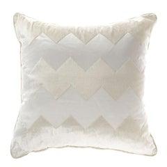 Gianfranco Ferré Alameda Pillow in White Velvet