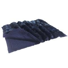 Gianfracno Ferré Silvie Throw in Blue Fur Velvet
