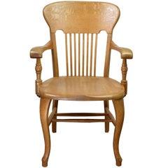 Quartersawn Oak Courtroom Chair