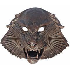 Meissen Bottger Steinzug Tiger-Form Wall Mask