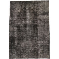 Modern Industrial Style Distressed Vintage Turkish Area Rug