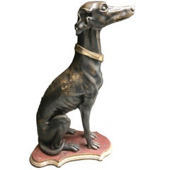 Italian Hand-Carved Wooden Dog, 1950s