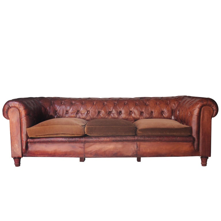 Three Seat Chester Sofa England 1950 For