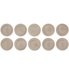 """Swid Powell Ten Rare Buffet Plates """"Taffeta"""""""