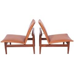"Pair of Finn Juhl Easy Chairs ""No.137"" for France & Søn, 1958"
