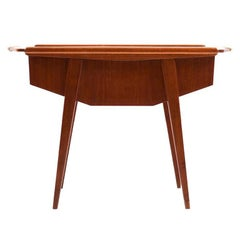 Midcentury Danish Sewing Table in Teak