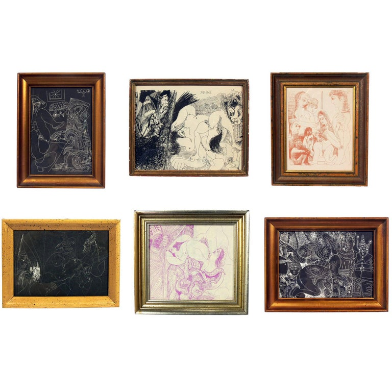 Selection of Pablo Picasso Erotic Prints