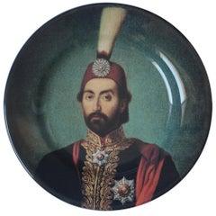 Handmade Sultan Abdulmecid Ceramic Dinner Plate