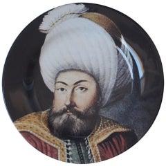Handmade Sultan Beyazid Ceramic Dinner Plate
