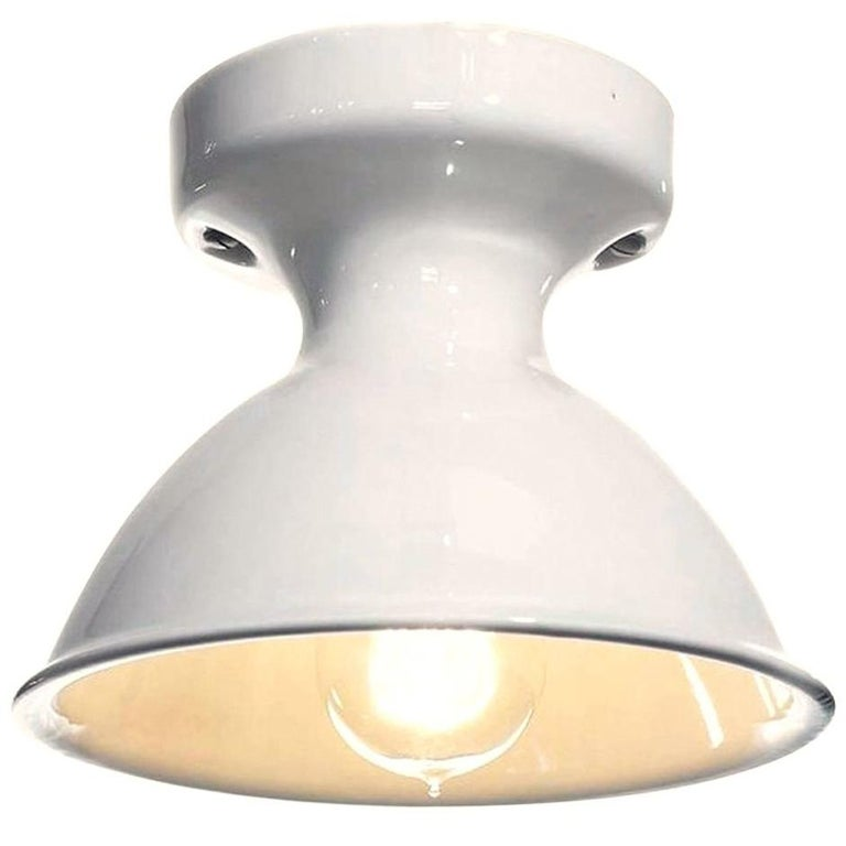 Porcelain Flush Mount Lamps For Sale