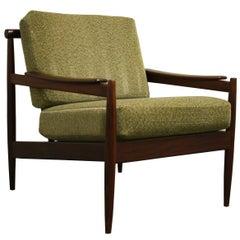 Midcentury Teak Wooden Scandinavian Lounge Chair, 1960s, Denmark