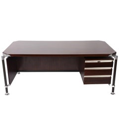 Ico Parisi for MIM Roma, Desk Rosewood Executive, Italy, MidCentury 1950s