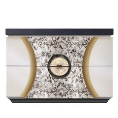 "Contemporary Bedside Table from ""Black Pearl"" Collection"